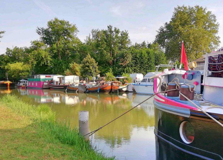 Canal du Midi Gardouch bateaux © Lauragais Tourisme