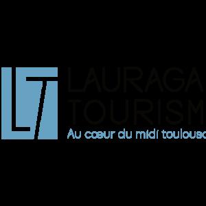 Logo Lauragais Tourisme bleu